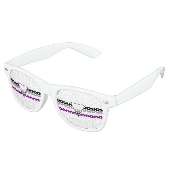Asexual Pride Flag Retro Sunglasses