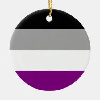 Asexual Pride Flag Round Ceramic Ornament