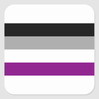 Asexual Pride Flag Square Sticker