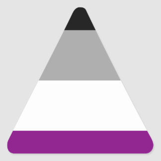 Asexual Pride Flag Triangle Sticker