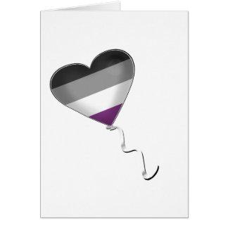 Asexual Pride Heart Balloon Card
