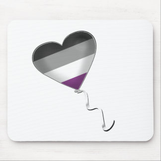 Asexual Pride Heart Balloon Mouse Pad