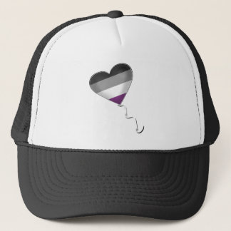 Asexual Pride Heart Balloon Trucker Hat