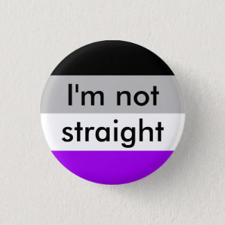 asexual pride I'm not straight pin