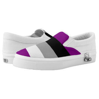 Asexual Pride Slip-On Sneakers