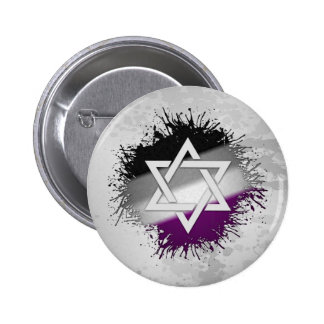 Asexual Pride Star of David 2 Inch Round Button