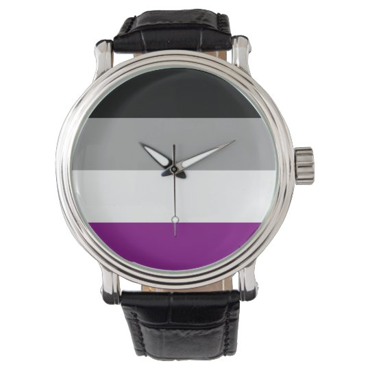 ASEXUAL PRIDE STRIPES DESIGN -.png Wrist Watch
