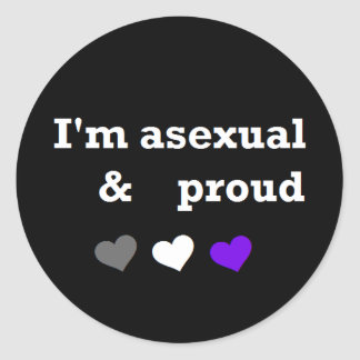 Asexual & Proud asexual pride sticker