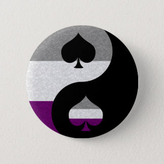 Asexual Yin and Yang 2 Inch Round Button