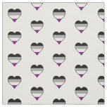 Asexuality pride hearts fabric