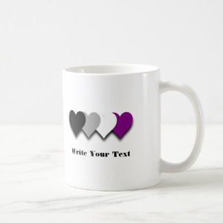 Asexuality pride hearts Mug