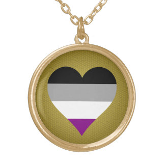 Asexuality pride hearts Necklace