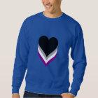 Asexuality pride hearts Sweatshirt