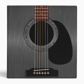 Ash Black Acoustic Guitar 3 Ring Binder