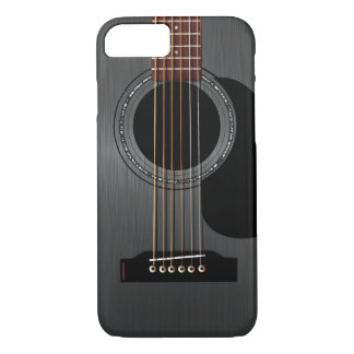 Ash Black Acoustic Guitar iPhone 7 Case