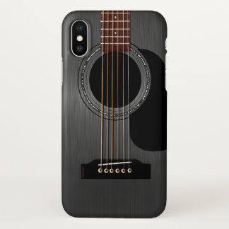 Ash Black Acoustic Guitar iPhone X Case