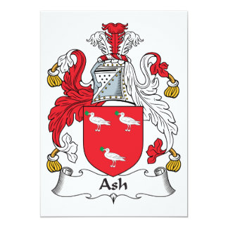 Ash Family Crest Card