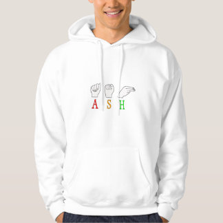 ASH FINGERSPELLED ASL NAME SIGN HOODIE