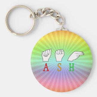 ASH FINGERSPELLED ASL NAME SIGN KEYCHAIN