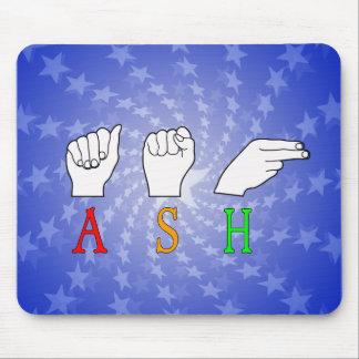 ASH FINGERSPELLED ASL NAME SIGN MOUSE PAD