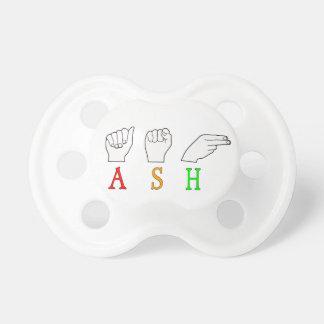 ASH FINGERSPELLED ASL NAME SIGN PACIFIER