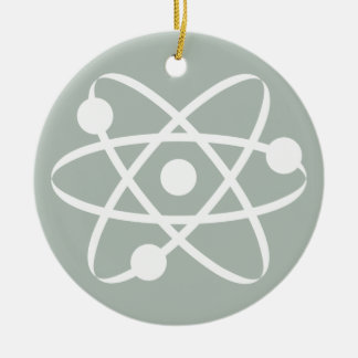 Ash Gray Atom Ceramic Ornament