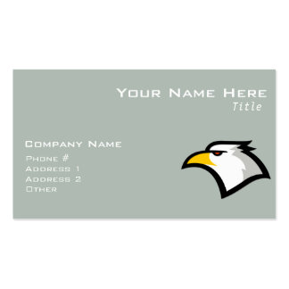 Ash Gray Bald Eagle Double-Sided Standard Business Cards (Pack Of 100)