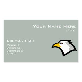 Ash Gray Bald Eagle Business Card Template
