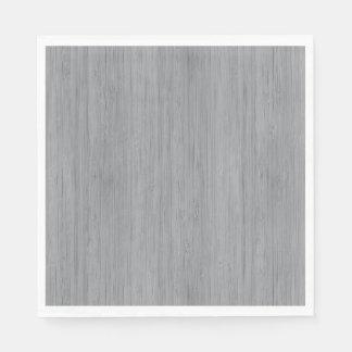 Ash Gray Bamboo Wood Grain Look Disposable Napkin