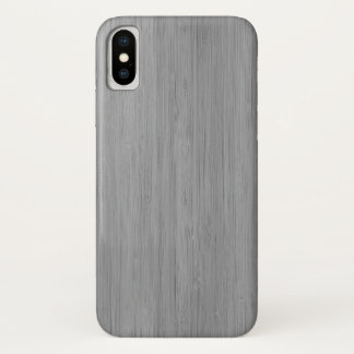 Ash Gray Bamboo Wood Grain Look iPhone X Case