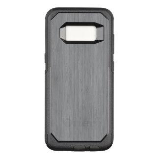 Ash Gray Bamboo Wood Grain Look OtterBox Commuter Samsung Galaxy S8 Case