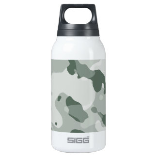 Ash Gray; Grey Camo; Camouflage Insulated Water Bottle