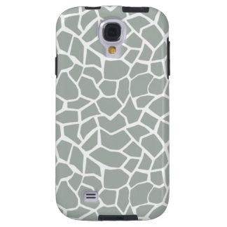 Ash Gray; Grey Giraffe Animal Print Galaxy S4 Case