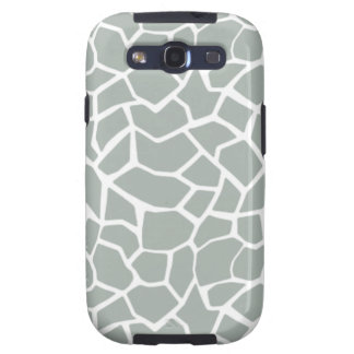 Ash Gray; Grey Giraffe Animal Print Samsung Galaxy SIII Covers