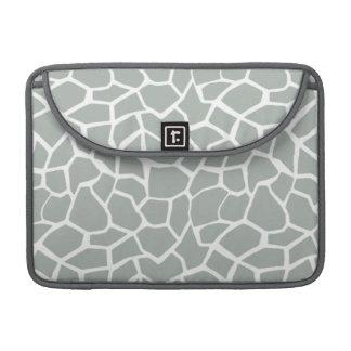 Ash Gray; Grey Giraffe Animal Print MacBook Pro Sleeve