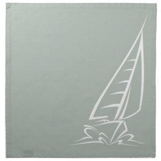 Ash Gray Sailing Napkin