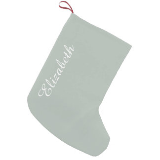 Ash Gray Solid Color Customize It Small Christmas Stocking