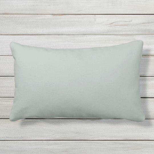 Ash Grey Outdoor Lumbar Pillow
