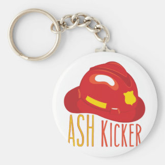 Ash Kicker Basic Round Button Keychain