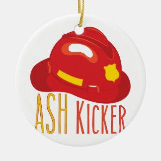 Ash Kicker Ceramic Ornament