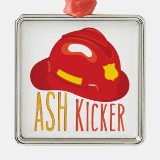 Ash Kicker Metal Ornament