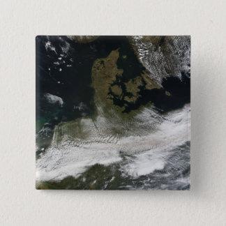 Ash plume from Eyjafjallajokull Volcano 2 2 Inch Square Button