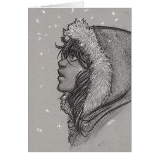 Ash & Snow - Girl in Fur Hood Card