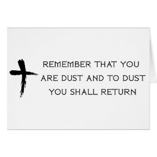 Ash Wednesday Card