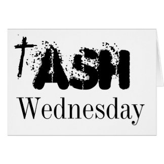 Ash Wednesday Postcard