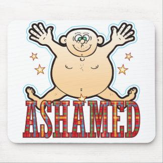 Ashamed Fat Man Mouse Pad