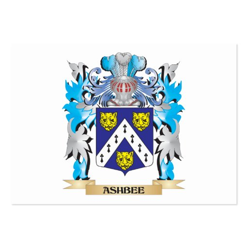 Ashbee Coat Of Arms Business Cards