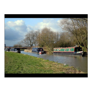 Ashby Canal Leicestershire Canal Boats Postcard