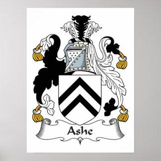 Ashe Family Crest Poster