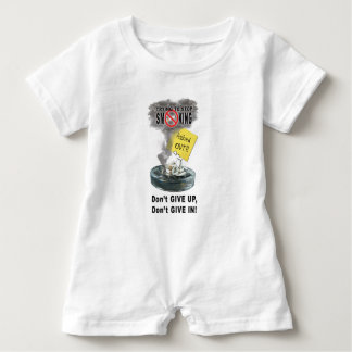 Ashed Out Baby Romper
